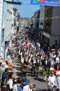 The parade on the second day of the Sea Shanty Festival, led by the RNLI.JPG.gallery